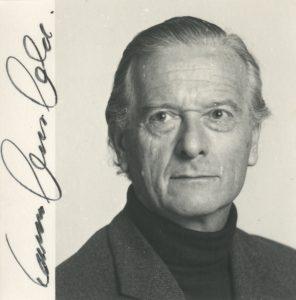 Ernst von Glasersfeld Portrait mit Unterschrift
